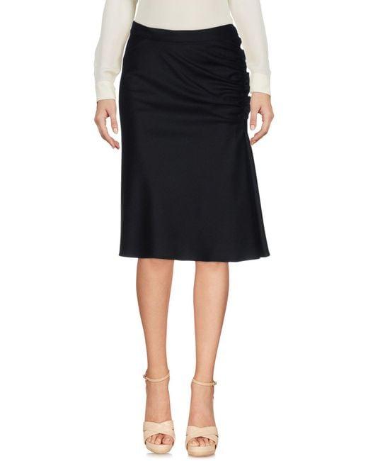 Aspesi | Black Knee Length Skirt | Lyst