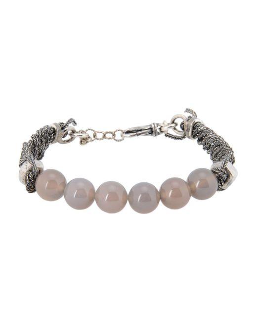 Emanuele Bicocchi - Gray Bracelets for Men - Lyst