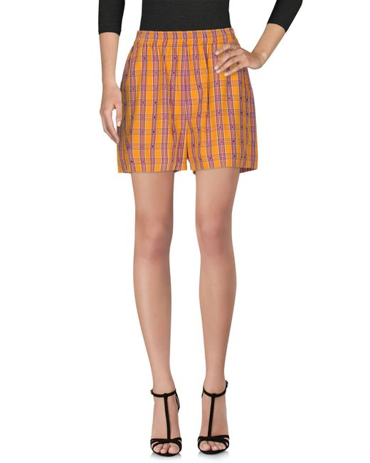 N°21 - Orange Shorts - Lyst