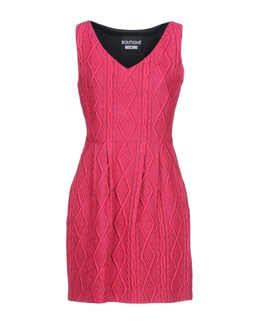 Boutique Moschino - Pink Short Dress - Lyst