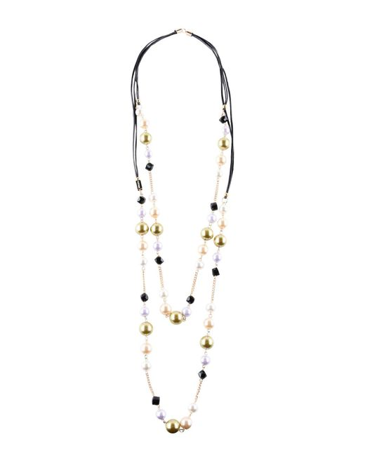 Pf Paola Frani - Green Necklace - Lyst