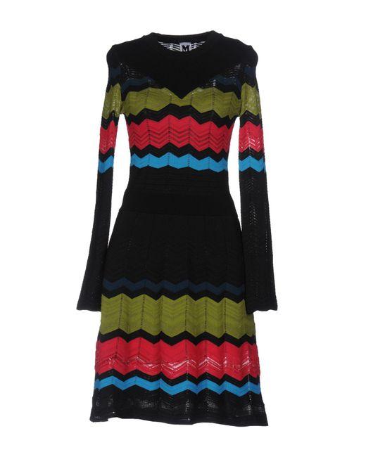 M Missoni - Black Short Dress - Lyst