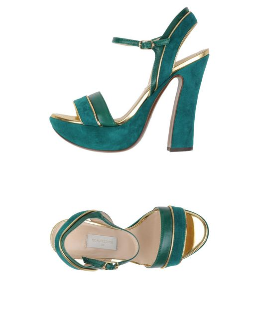 L'Autre Chose - Green Sandals - Lyst