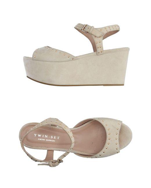 Twin Set - Natural Sandals - Lyst
