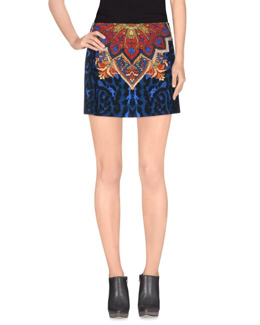 Just Cavalli - Blue Mini Skirt - Lyst