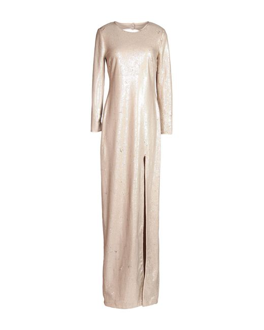 Halston Heritage | Natural Long Dress | Lyst