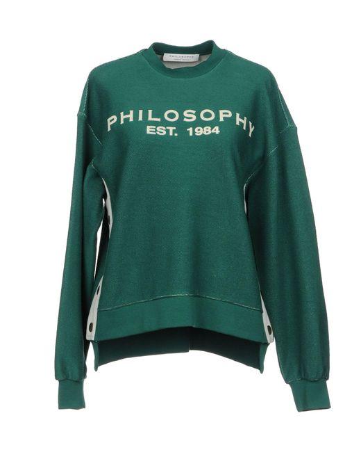 Philosophy Di Lorenzo Serafini - Green Sweatshirts - Lyst