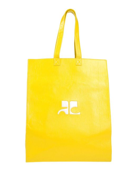 Courreges - Yellow Logo Tote Bag - Lyst