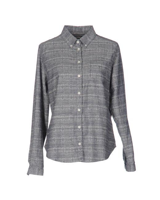 YMC - Blue Shirt - Lyst