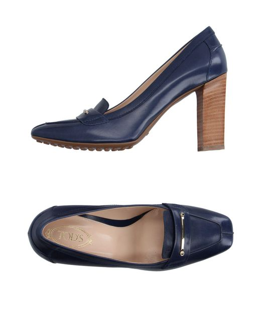Tod's - Blue Moccasins - Lyst