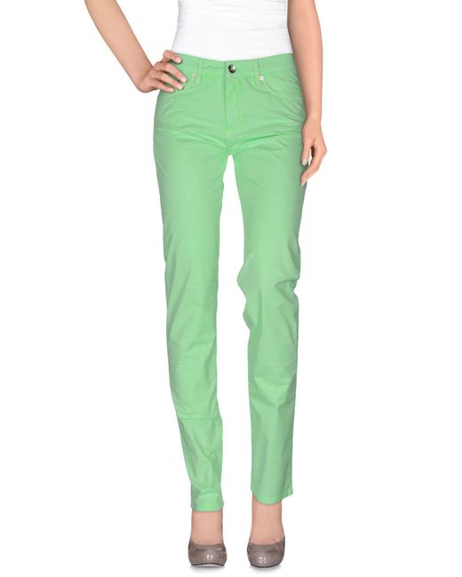 Love Moschino - Green Casual Pants - Lyst