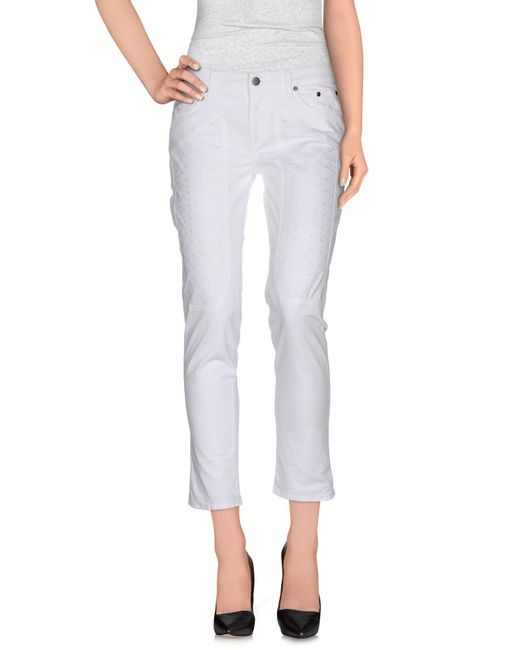 Jeckerson - White Casual Pants - Lyst