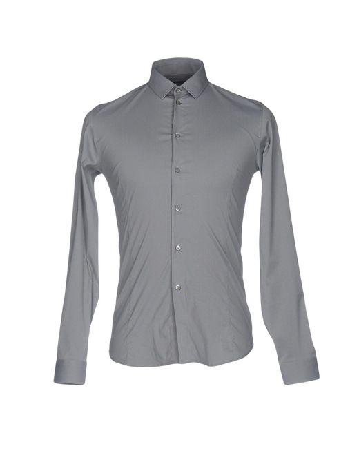 Patrizia Pepe   Gray Shirt for Men   Lyst