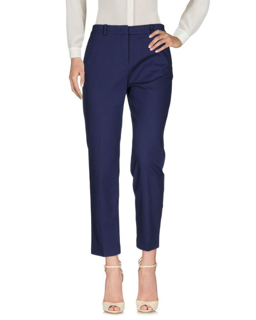 Mantu - Blue Casual Trouser - Lyst