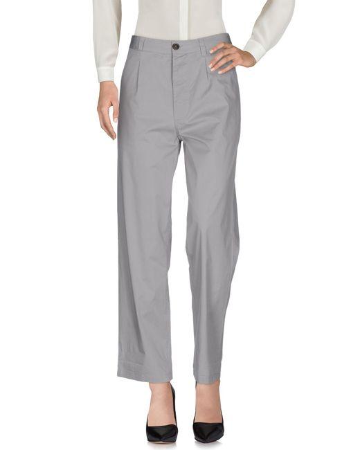 Erika Cavallini Semi Couture - Gray Casual Pants - Lyst