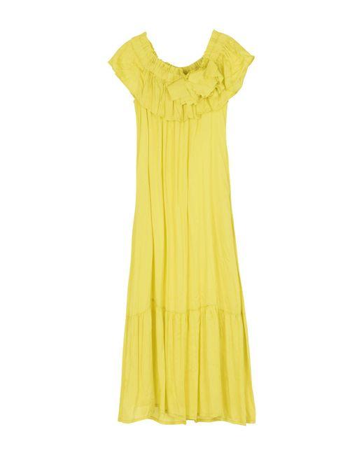 Suoli - Yellow 3/4 Length Dress - Lyst