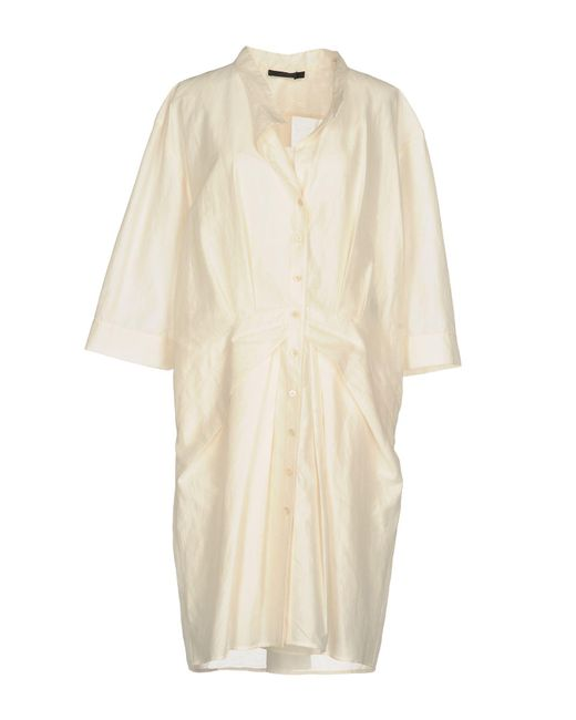 Donna Karan - White Knee-length Dresses - Lyst