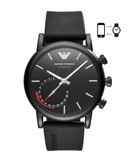 Emporio Armani - Black Smartwatch for Men - Lyst