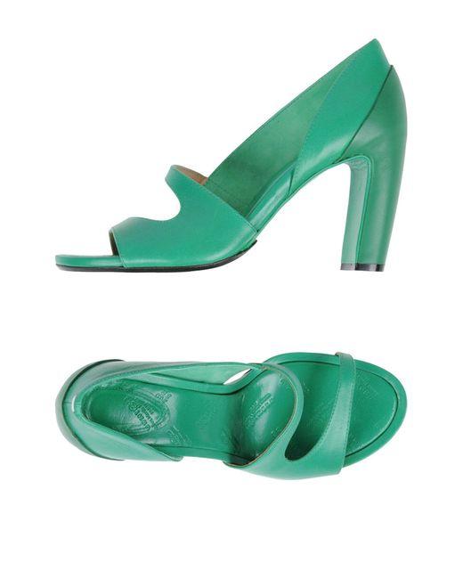 Maison Margiela - Green Sandals - Lyst