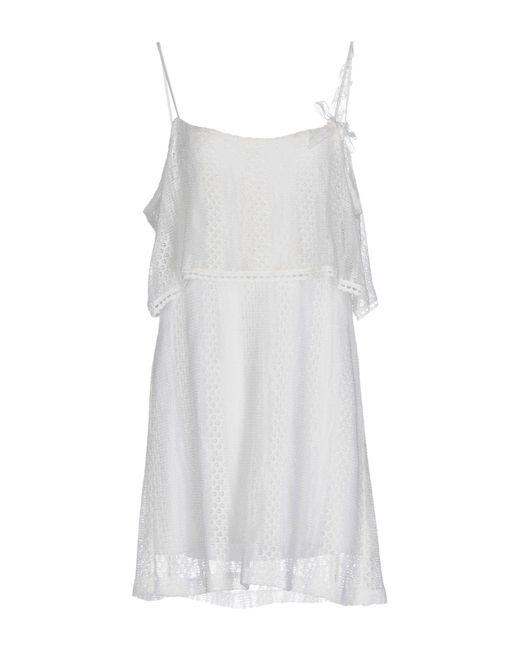 Hanita - White Short Dress - Lyst