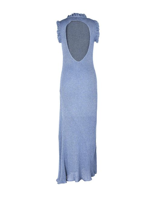 6f07b974e7 ... Pinko - Blue Long Dress - Lyst