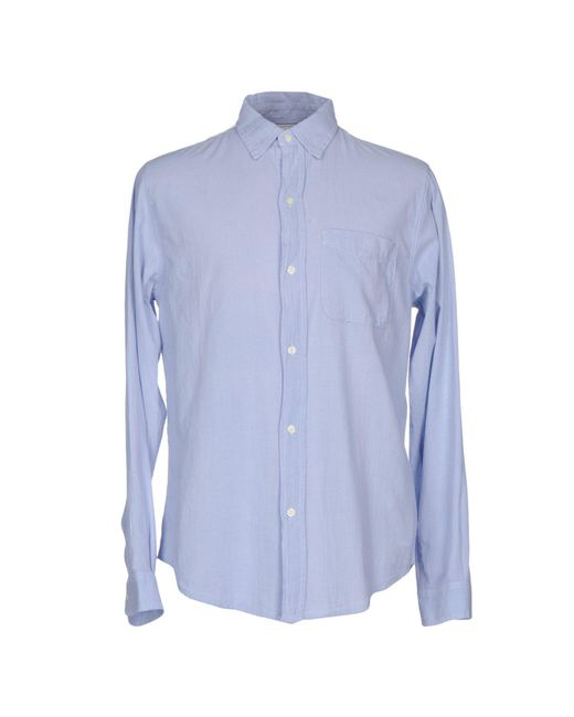 Current/Elliott - Blue Shirt for Men - Lyst