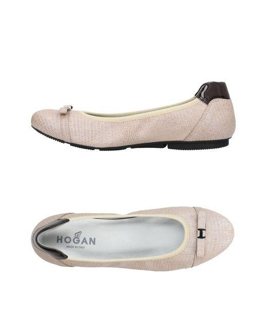 Hogan White Ballet Flats