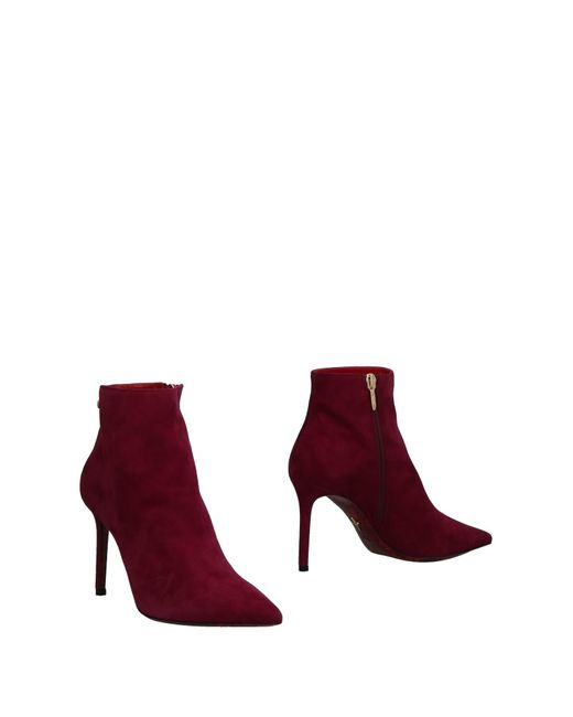 Cesare Paciotti - Purple Ankle Boots - Lyst