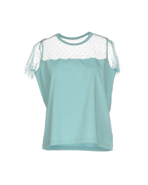 Lyst red valentino t shirt in blue for Red valentino t shirt