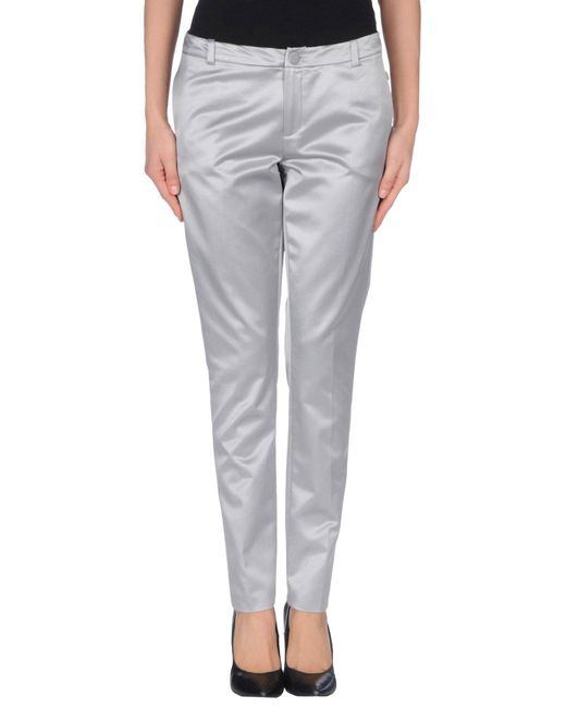 Liu Jo - Gray Casual Trouser - Lyst