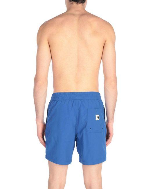 f5a614978ecd6 ... Carhartt - Blue Swim Trunks for Men - Lyst ...