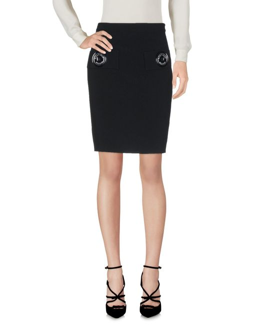 Boutique Moschino - Black Knee Length Skirts - Lyst