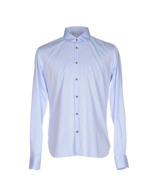 Aglini - Blue Shirts for Men - Lyst