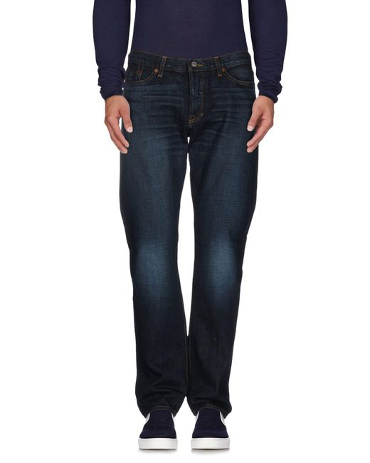 Jean Shop - Blue Denim Trousers for Men - Lyst