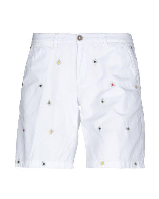 40weft - White Bermuda Shorts - Lyst