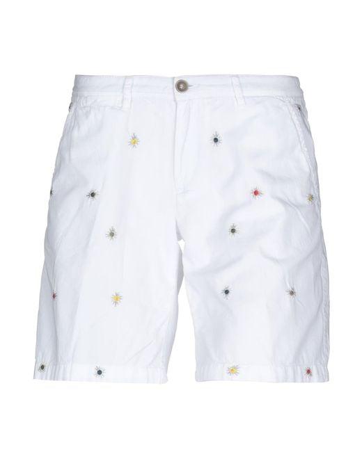 40weft White Bermuda Shorts
