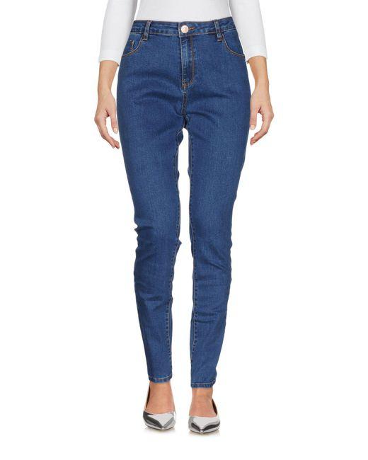 Glamorous - Blue Denim Trousers - Lyst