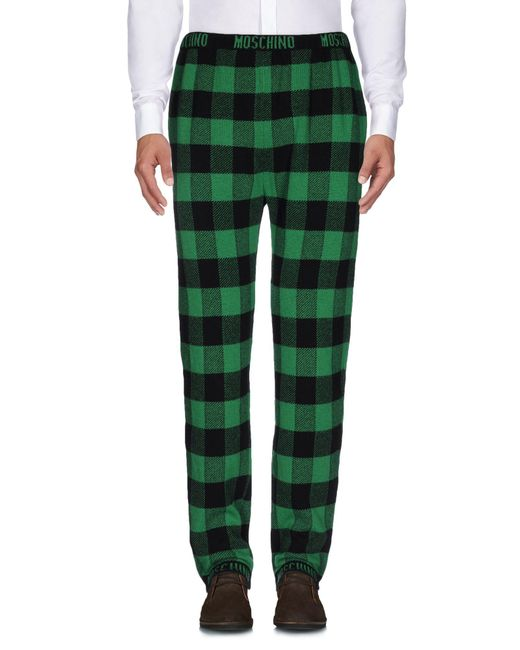 Moschino - Green Casual Pants for Men - Lyst