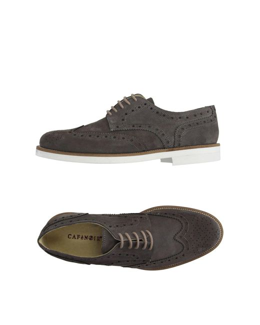 CafeNoir - Gray Lace-up Shoe for Men - Lyst