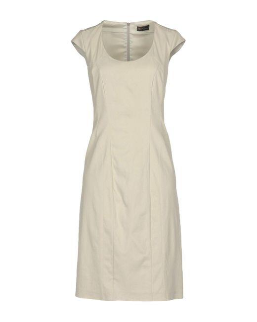 Tru Trussardi - Gray Knee-length Dress - Lyst