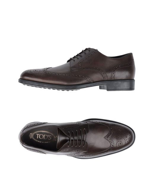 Tod's - Brown Lace-up Shoe for Men - Lyst