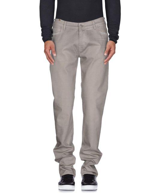 Notify - Gray Denim Trousers for Men - Lyst