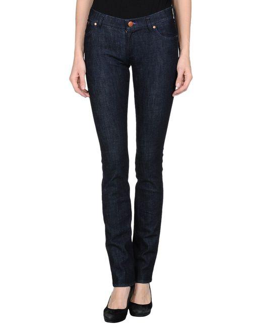 Victoria Beckham - Blue Denim Pants - Lyst