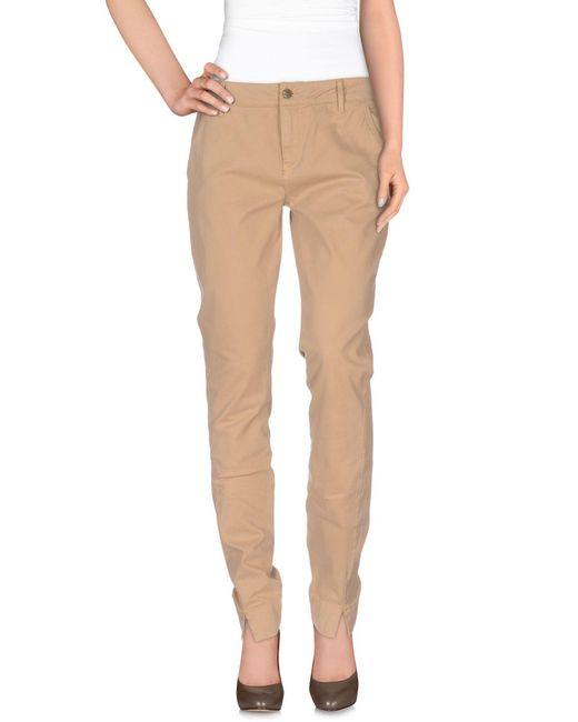 Manila Grace - Brown Casual Trouser - Lyst