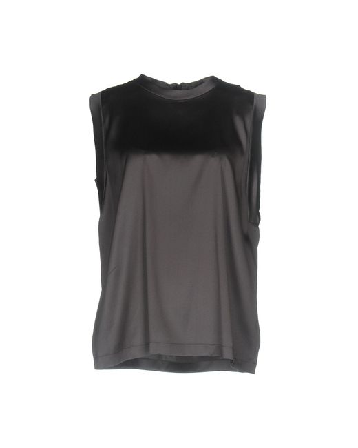 Brunello Cucinelli - Gray Top - Lyst