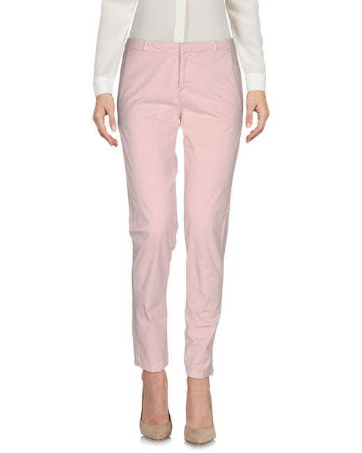 Scee By Twin-set - Pink Casual Pants - Lyst