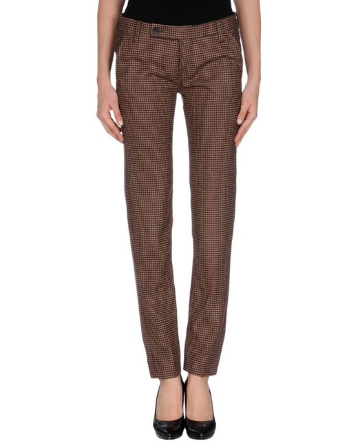 TRUE NYC - Brown Casual Pants - Lyst