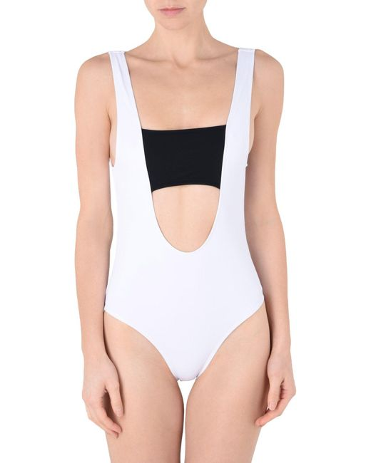 Beth Richards - White One-piece Swimsuit - Lyst