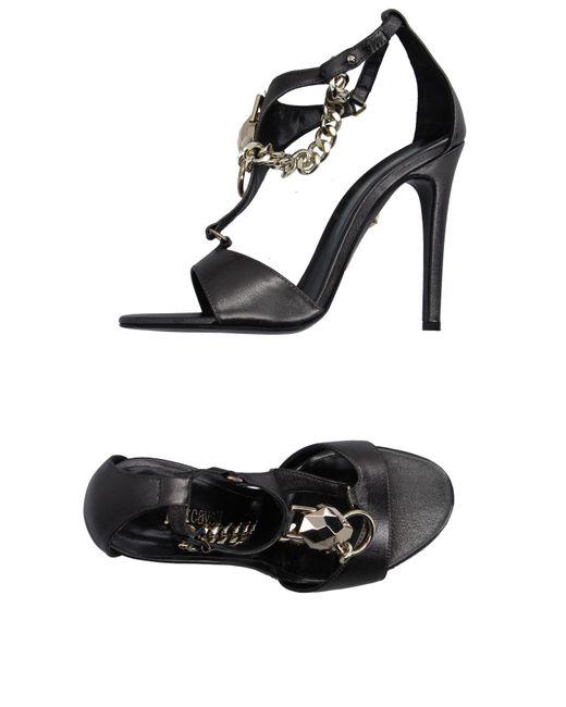 Just Cavalli - Gray Sandals - Lyst