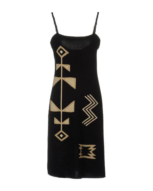 Ralph Lauren Black Label - Black Knee-length Dress - Lyst